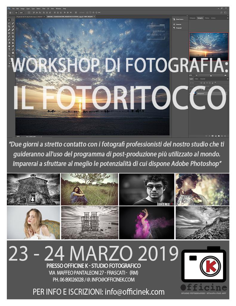 Workshop di Fotografia: Il Fotoritocco