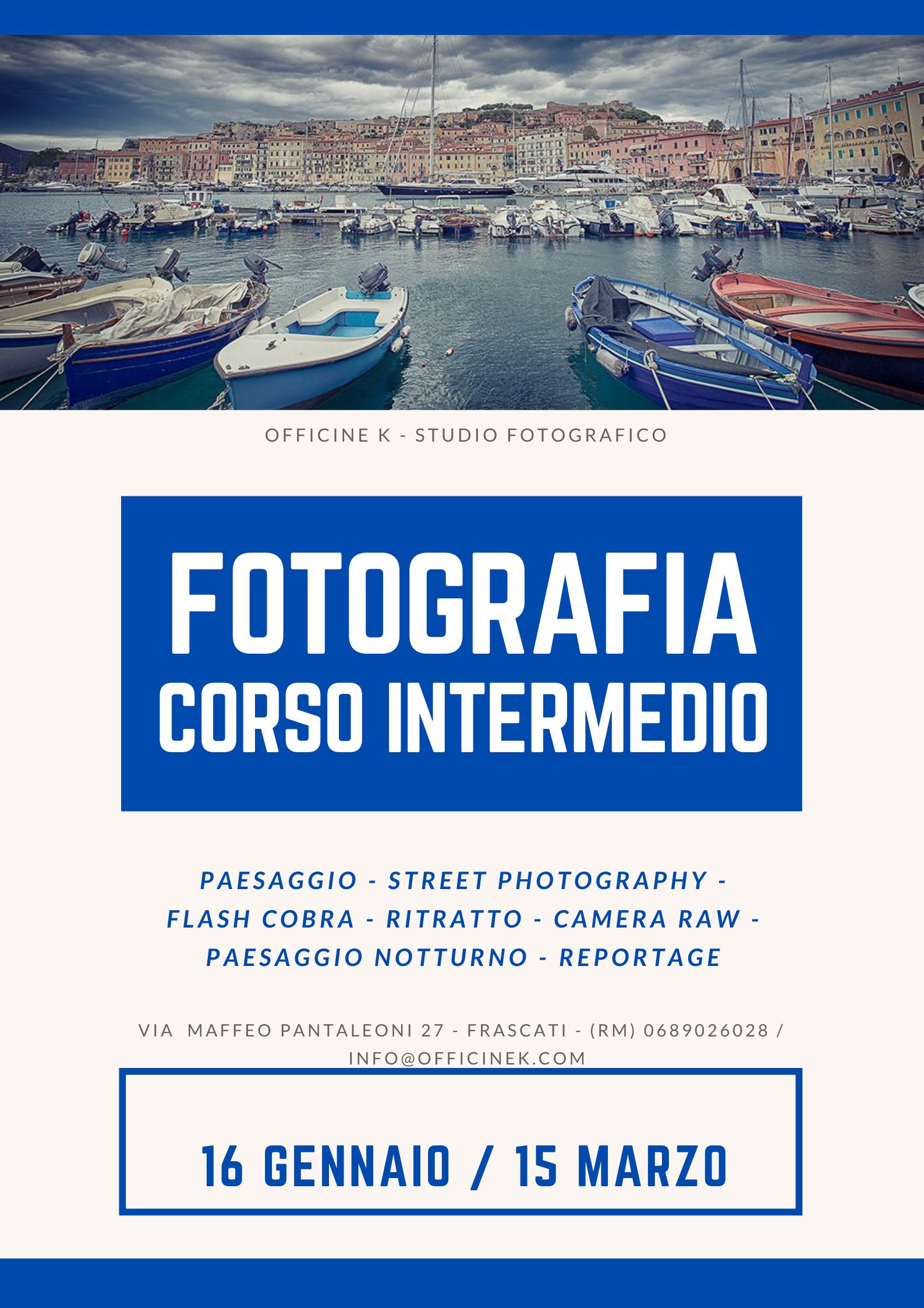 FOTOGRAFIA – CORSO INTERMEDIO