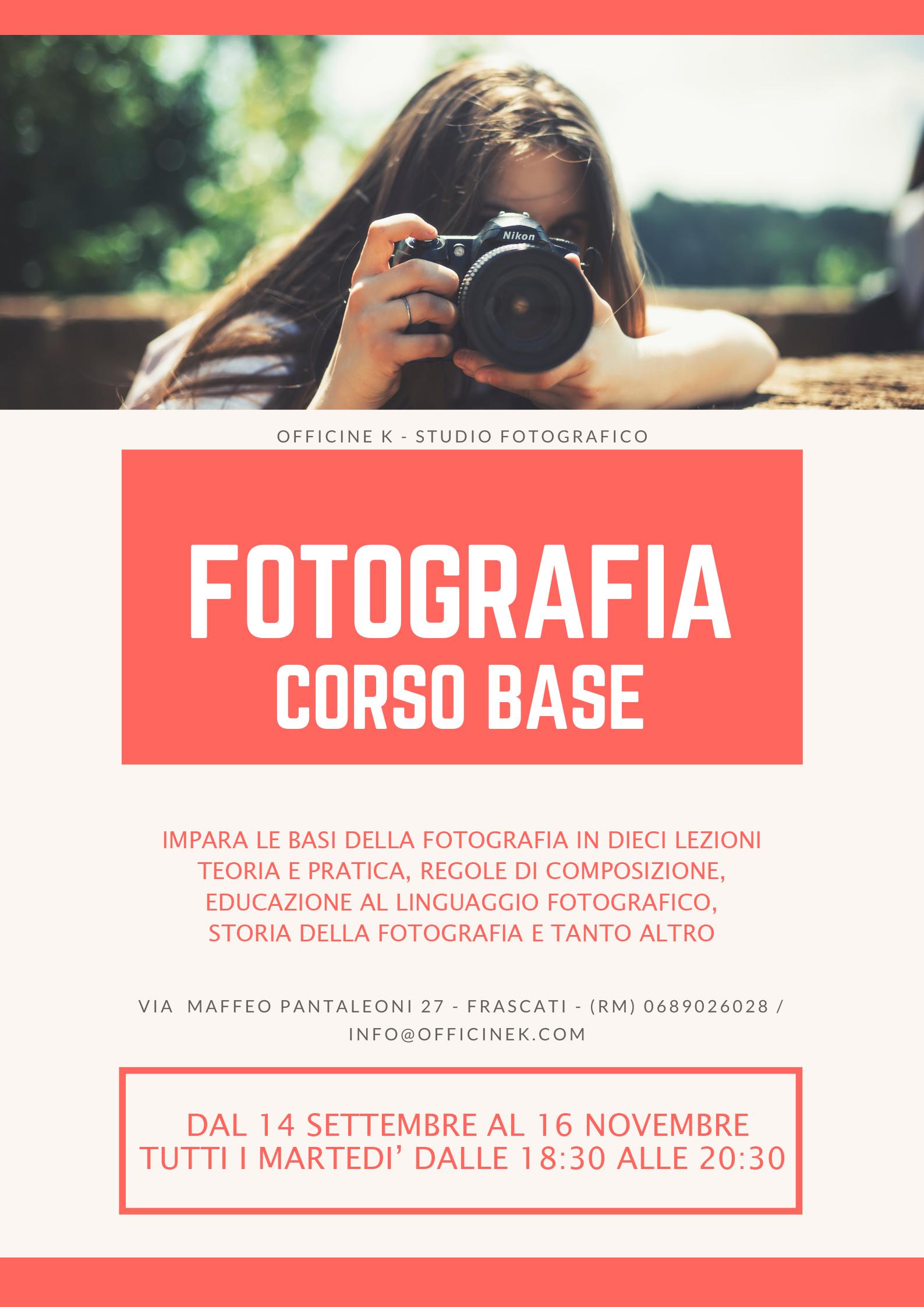 SCUOLA DI FOTOGRAFIA – CORSO BASE